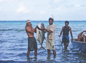 Fishing boys in Kubulau