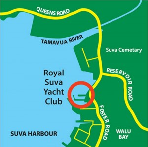 Royal Suva Yacht Club Location