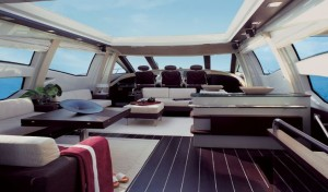 Azimut 86S Helm and Cockpit Dinette