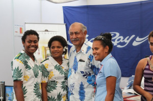 Waitui Charters Leah 'Ake at the Denarau Boat Show with Ratu Epeli Nailatikau - President of Fiji